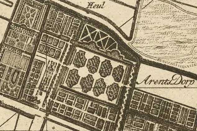 Kruchius kaart uit 1712